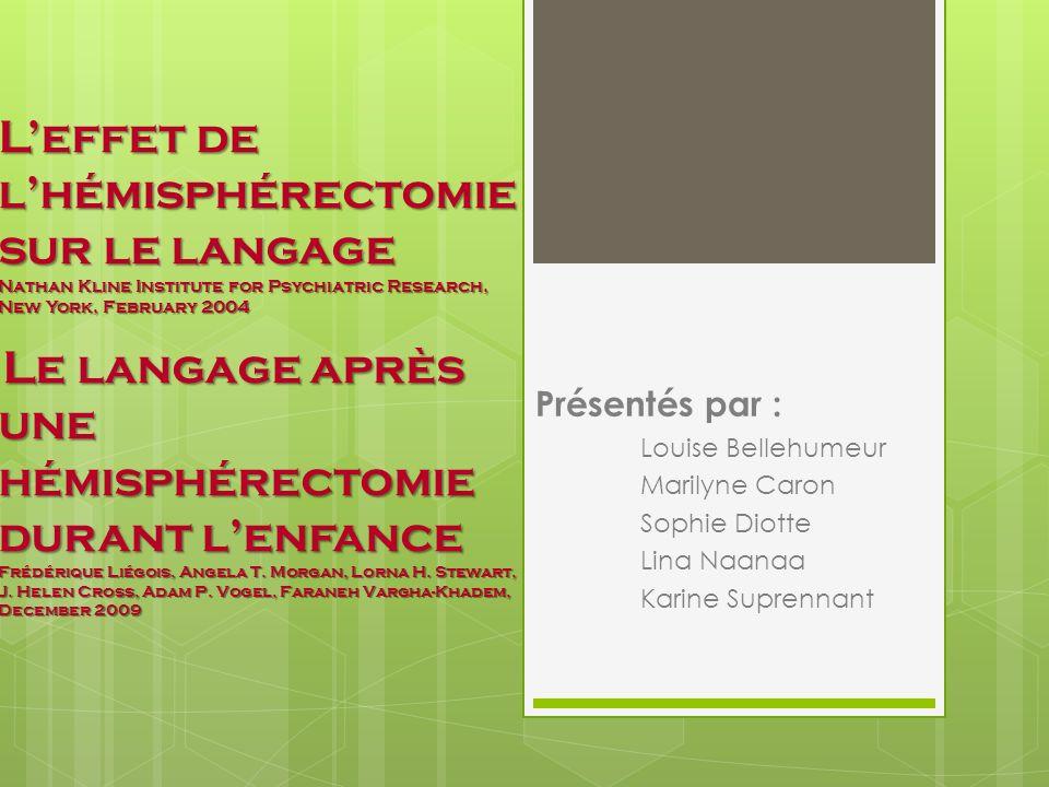 12 des 13 participants nont pas développé, de façon significative, derreurs articulatoires ou phonologiques à la prononciation dun seul mot.