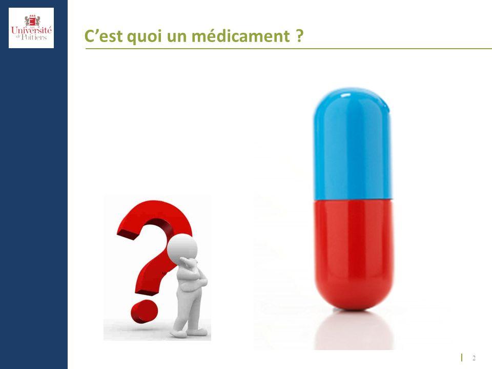 2 Cest quoi un médicament ?