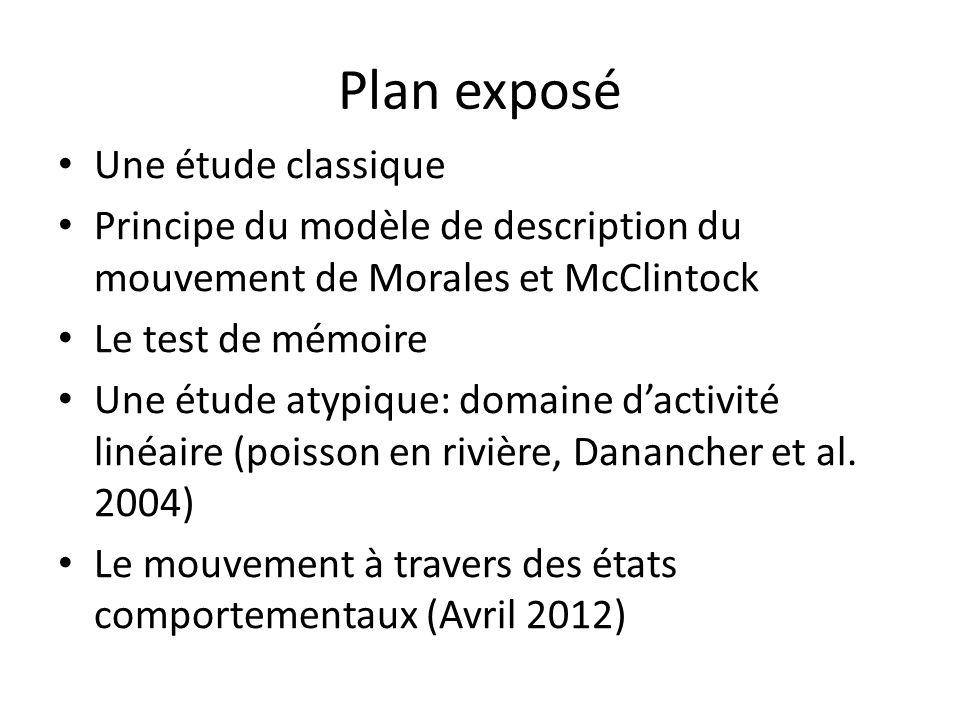Plan exposé Une étude classique Principe du modèle de description du mouvement de Morales et McClintock Le test de mémoire Une étude atypique: domaine