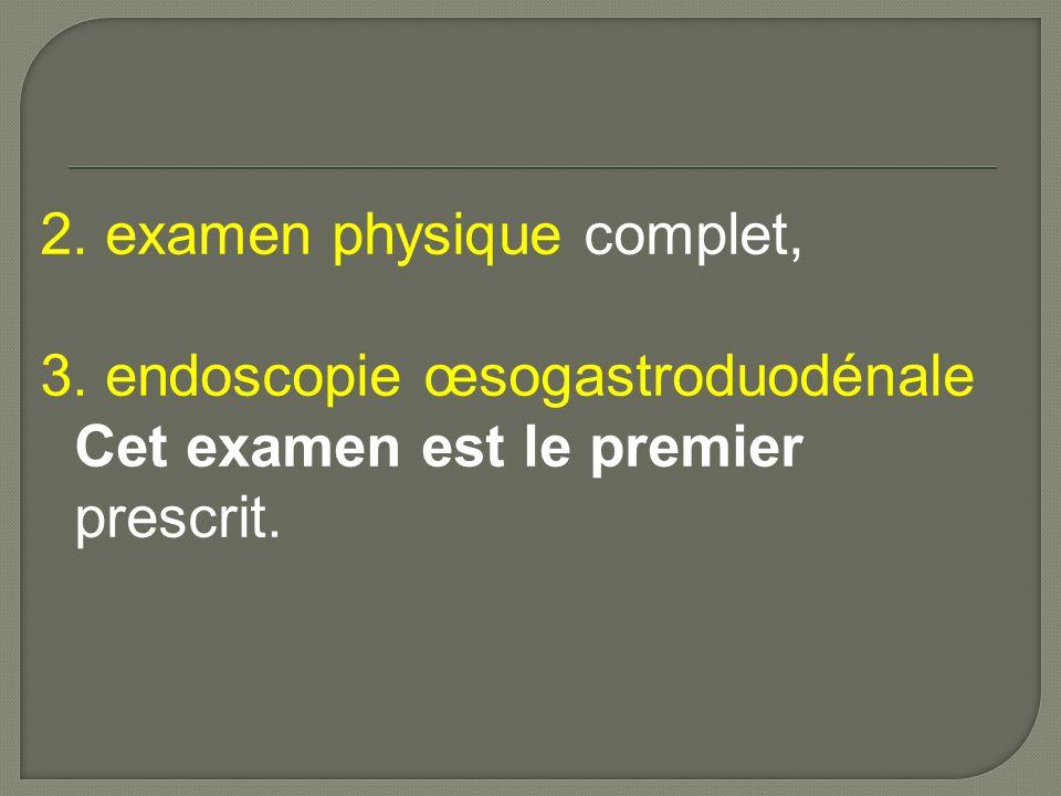 III.endoscopie œsogastroduodénale III.