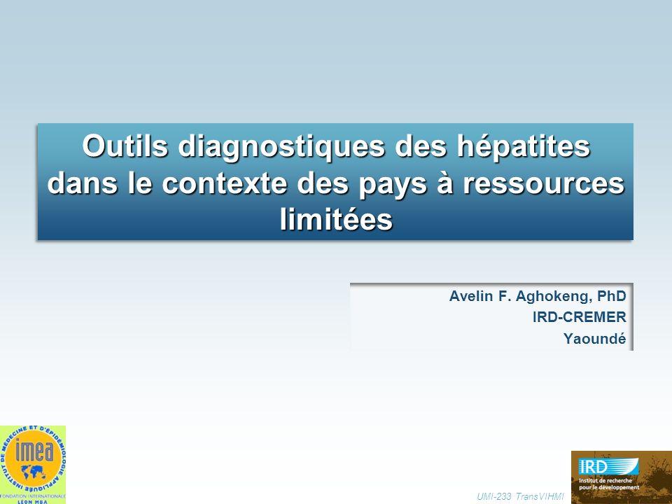 Outils diagnostiques des hépatites dans le contexte des pays à ressources limitées UMI-233 TransVIHMI
