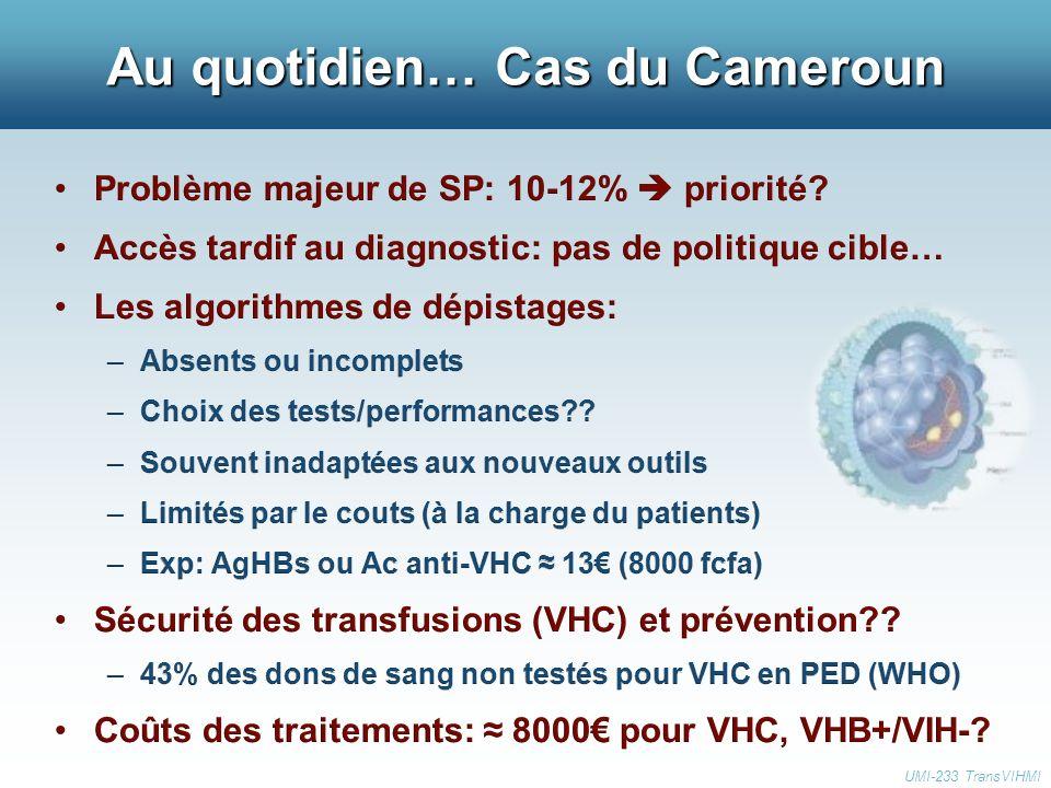 Au quotidien… Cas du Cameroun UMI-233 TransVIHMI
