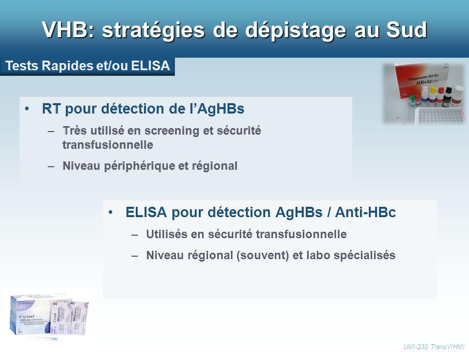 VHB: stratégies de dépistage au Sud UMI-233 TransVIHMI