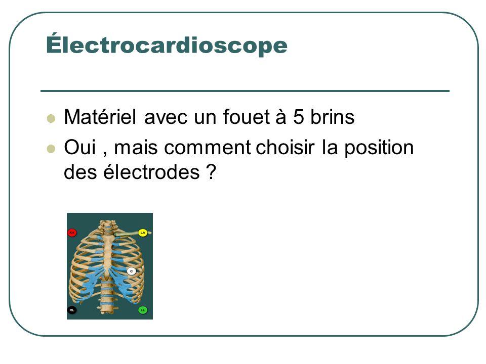 Électrocardioscope Matériel avec un fouet à 5 brins Oui, mais comment choisir la position des électrodes ?