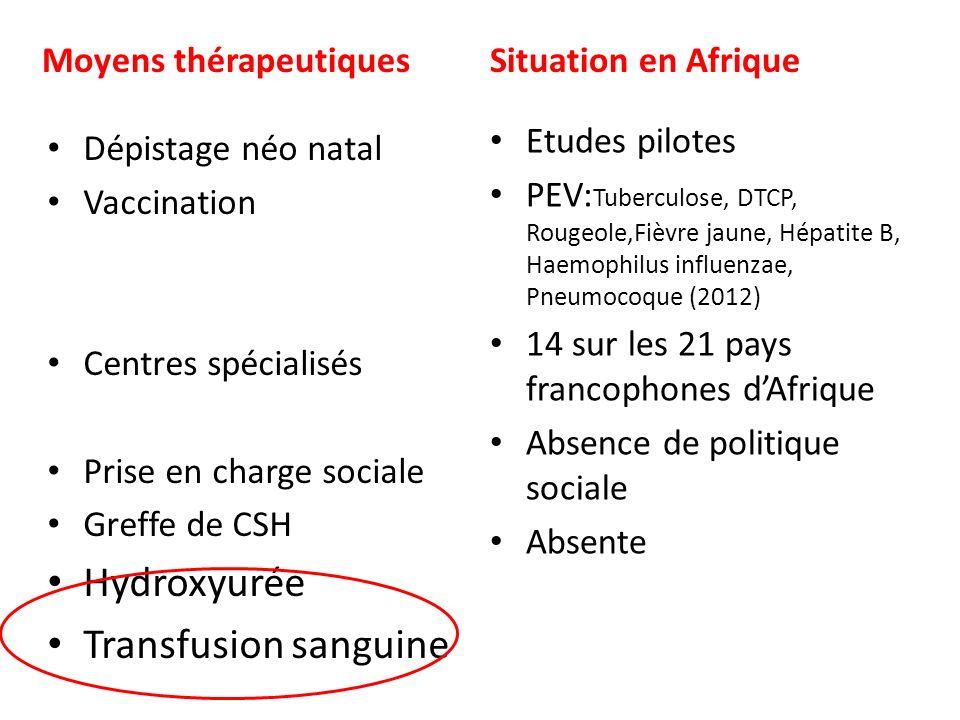 Transfusion sanguine et drépanocytose Transfusion simple dans les cas danémie aiguë.