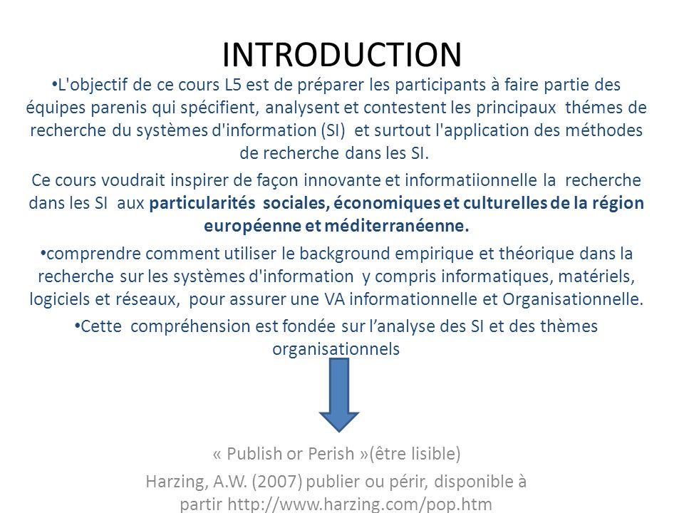 INTRODUCTION L'objectif de ce cours L5 est de préparer les participants à faire partie des équipes parenis qui spécifient, analysent et contestent les