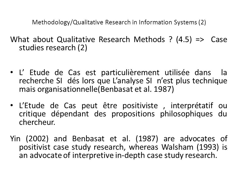 Methodology/Qualitative Research in Information Systems (2) What about Qualitative Research Methods .