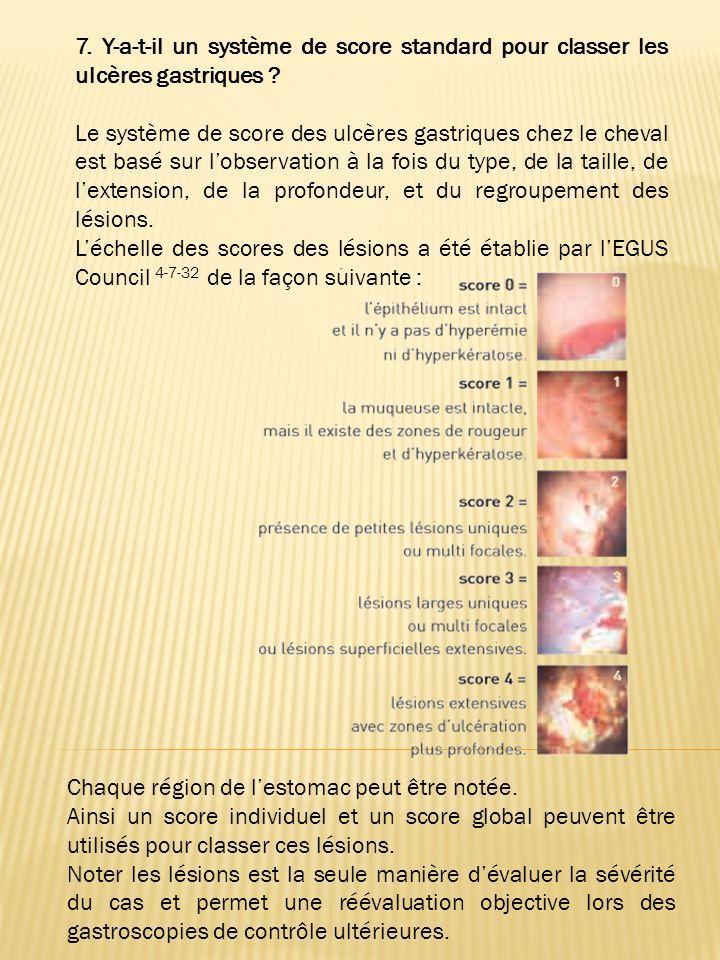 5. Quelles sont les principales lésions de lestomac ? Les lésions de lestomac peuvent être divisées en trois principaux groupes 44.41 : Hyperkératose
