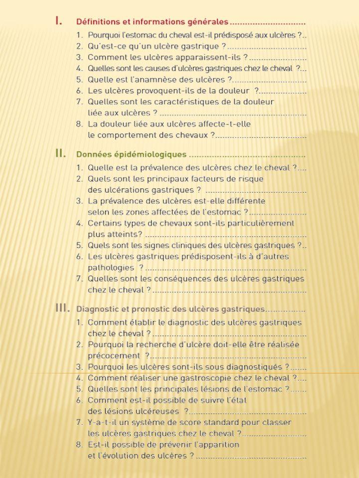 7.Quelles sont les caractéristiques de la douleur liée aux ulcères .