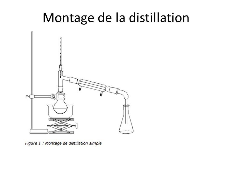 Montage de la distillation