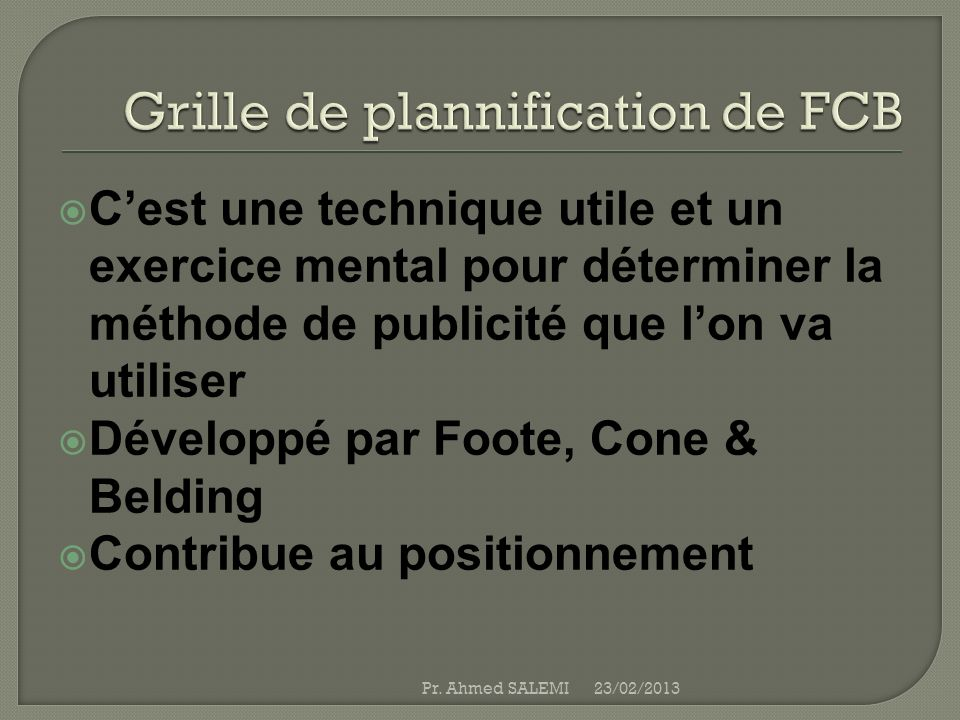 Du Rationnel a lémotionnel 23/02/2013Pr.