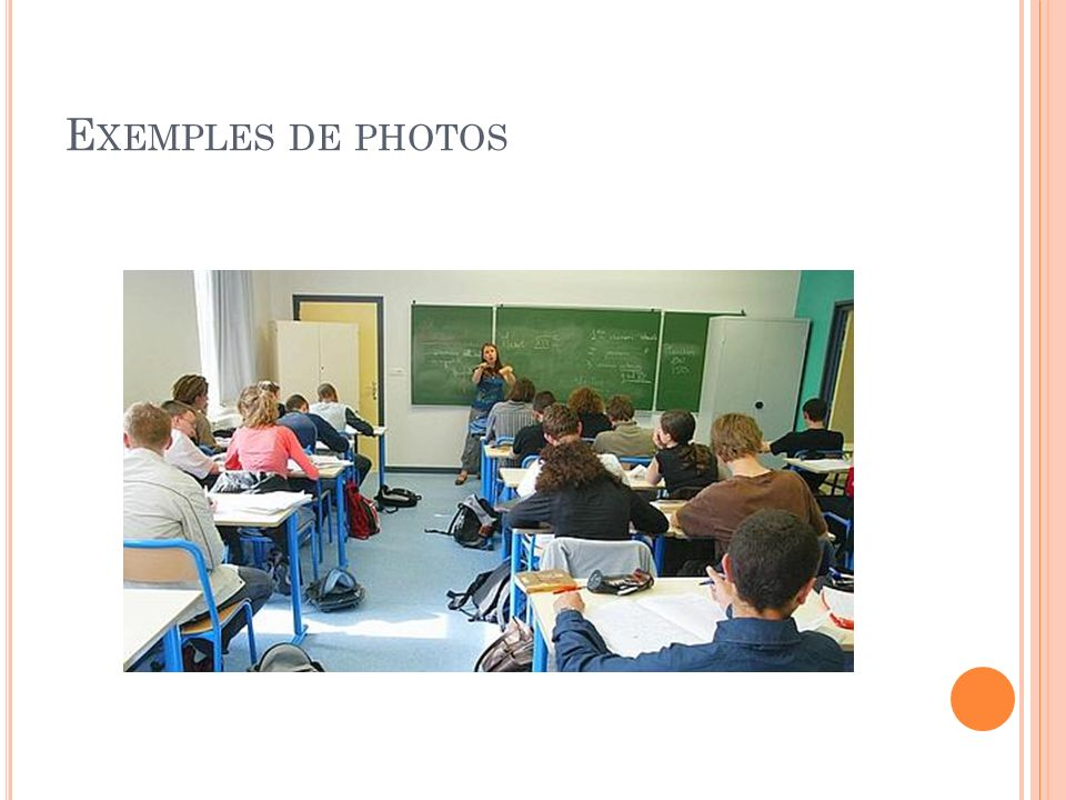 E XEMPLES DE PHOTOS