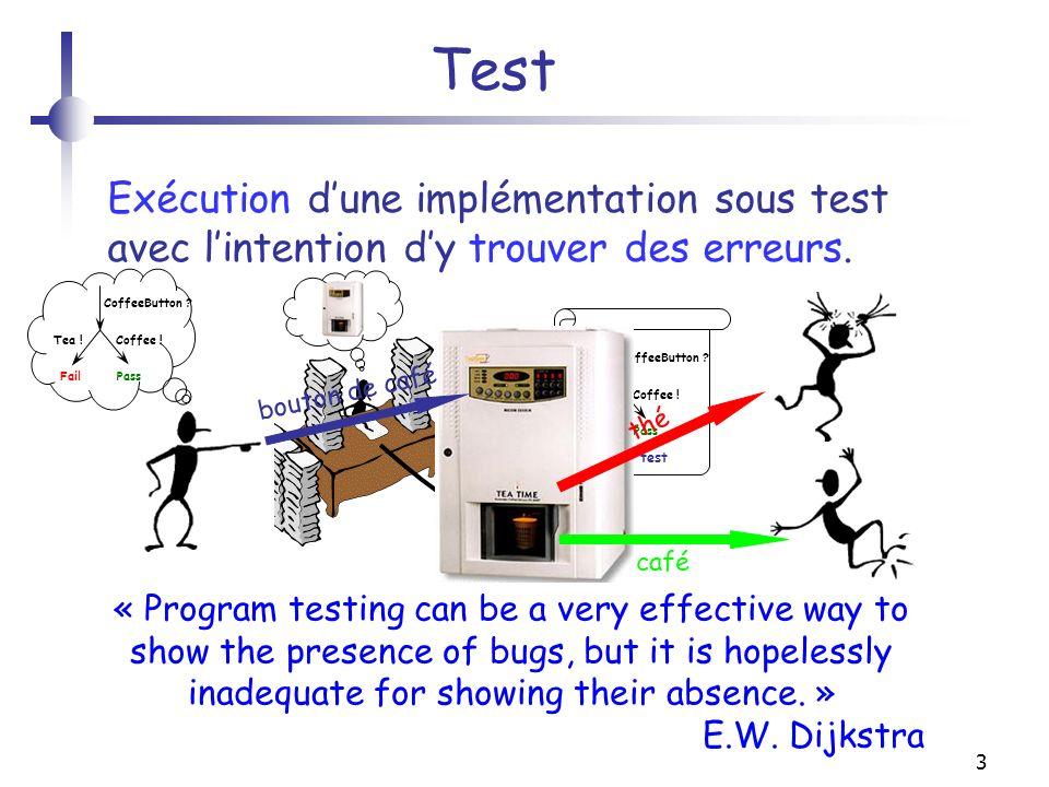 14 Plan 1.Test de conformité boîte noire.2.Cadre formel du test de conformité.