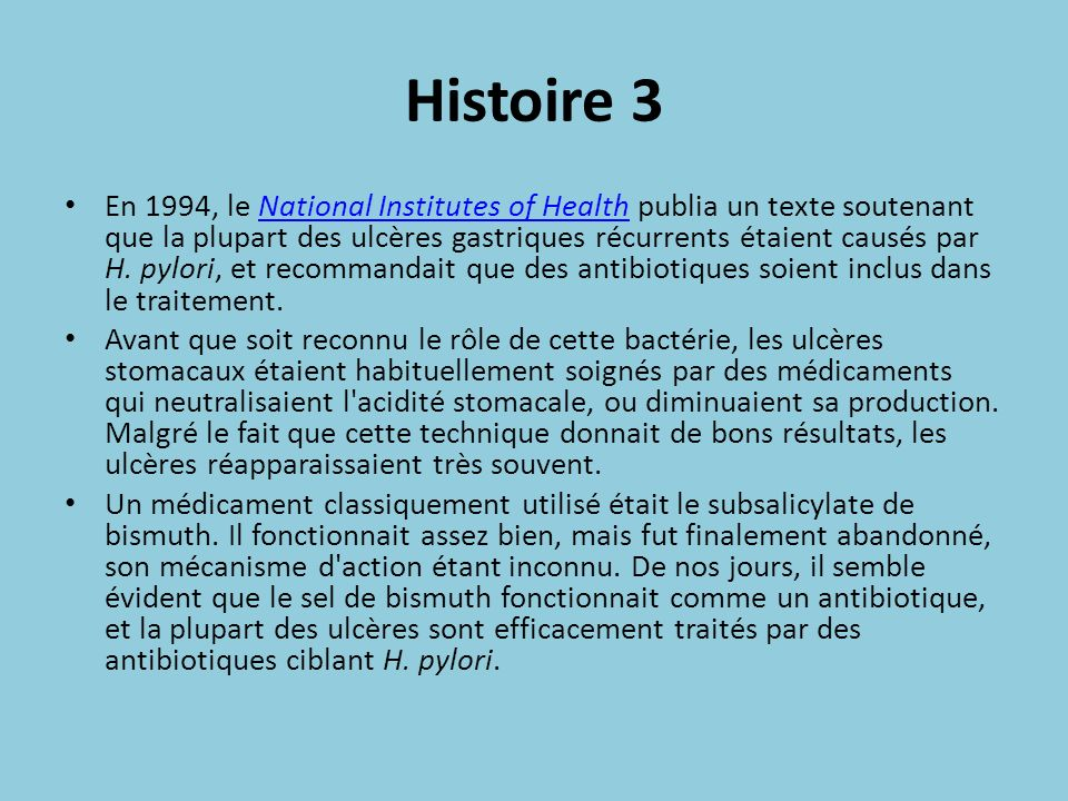 Diagnostic 4 Le test à l uréase est un test spécial pour cette bactérie.