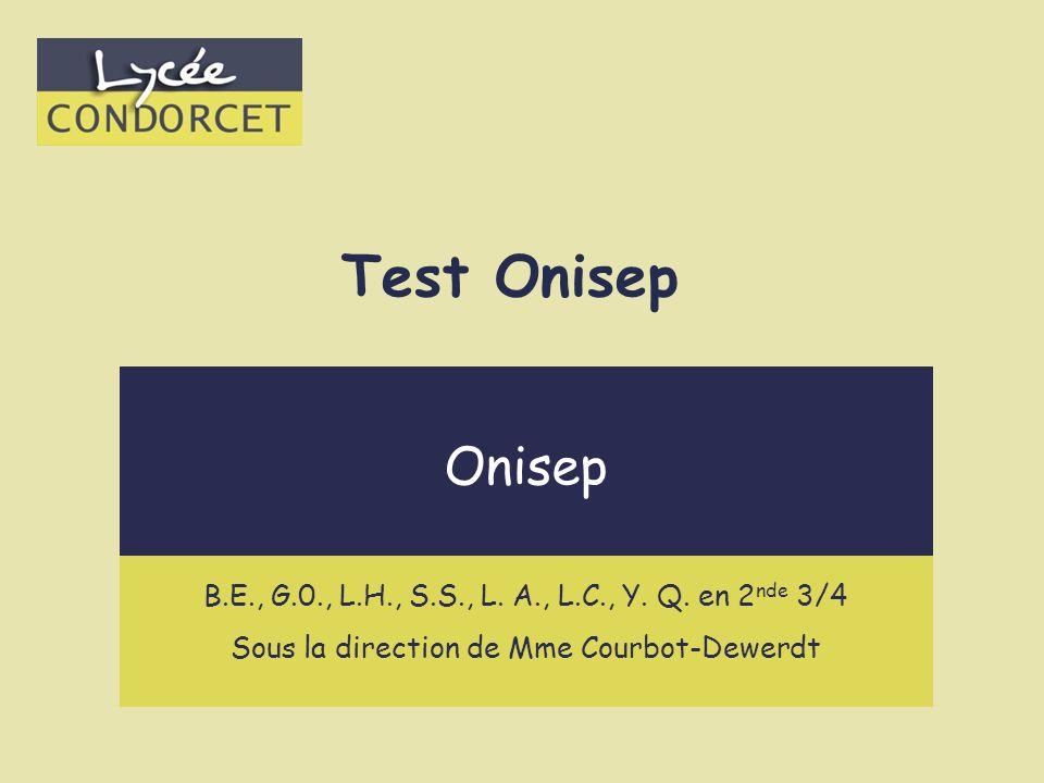 Test Onisep Métiers scientifiques