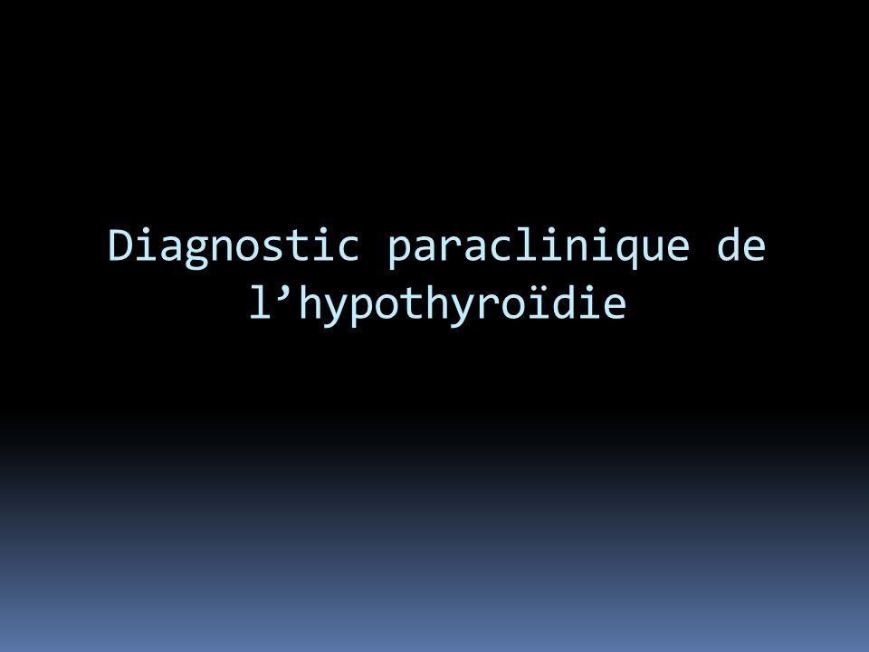 Diagnostic paraclinique de lhypothyroïdie