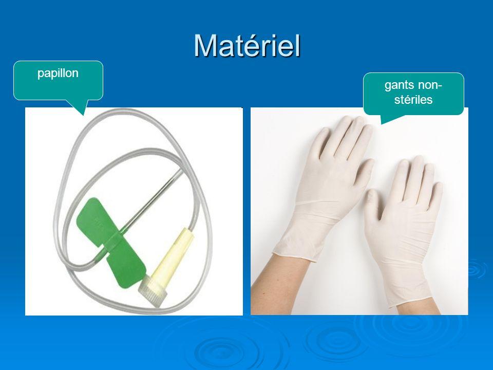 Matériel papillon gants non- stériles