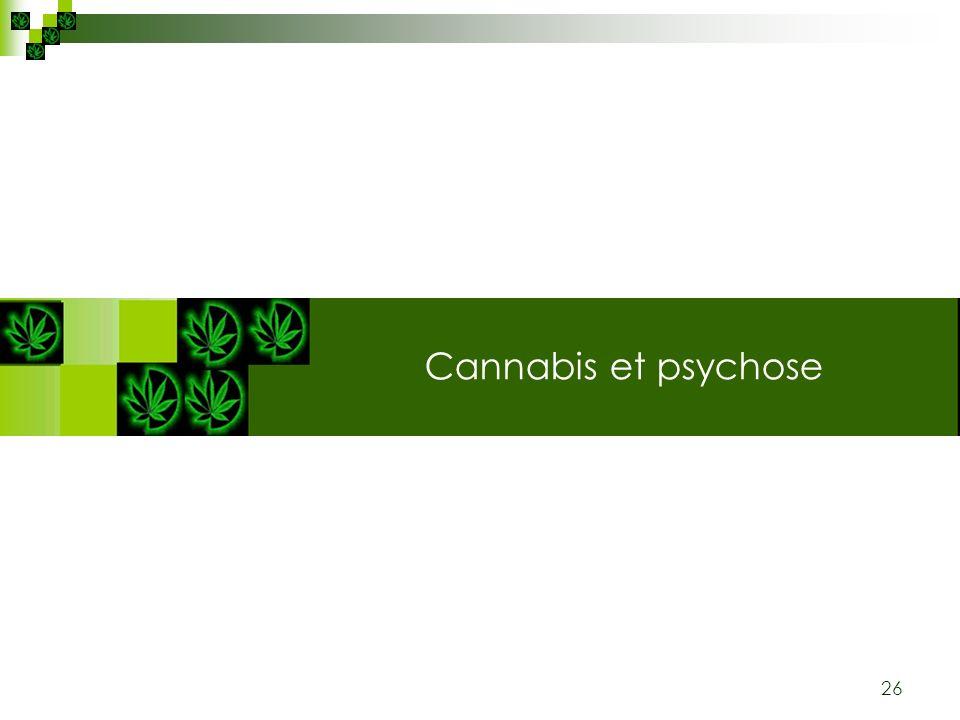 26 Cannabis: plante & substance Cannabis et psychose
