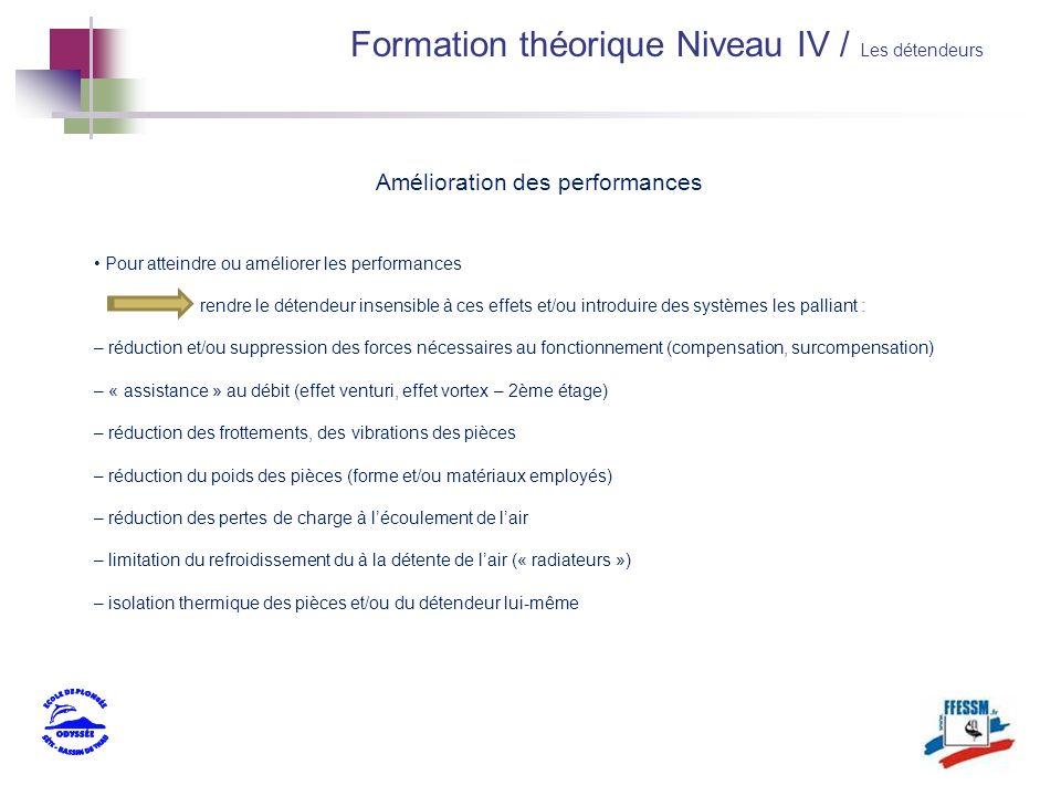 Formation théorique Niveau IV / Les détendeurs Amélioration des performances Pour atteindre ou améliorer les performances rendre le détendeur insensib