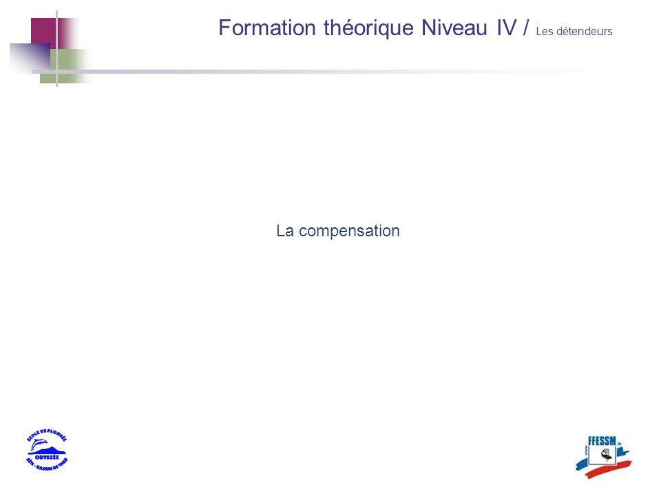 La compensation Formation théorique Niveau IV / Les détendeurs