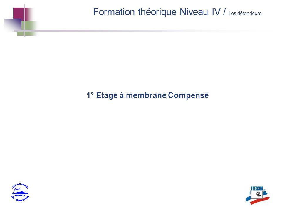 1° Etage à membrane Compensé Formation théorique Niveau IV / Les détendeurs