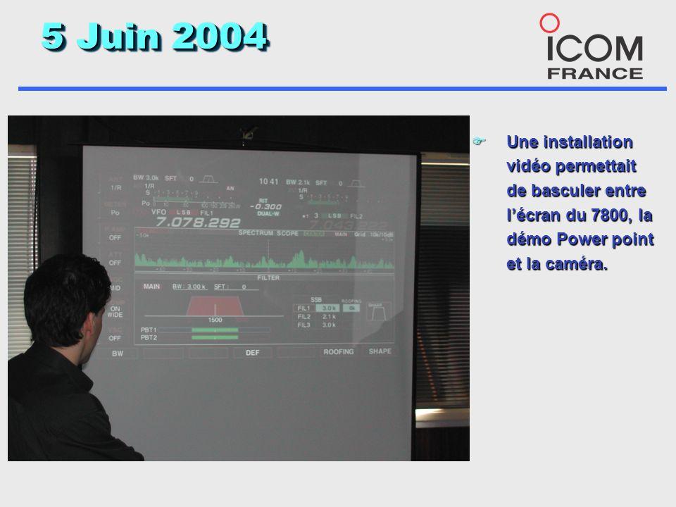 5 Juin 2004 F Notez au premier plan le magnifique présentoir en plexi pour le 7800, bravo Hubert pour lidée originale.