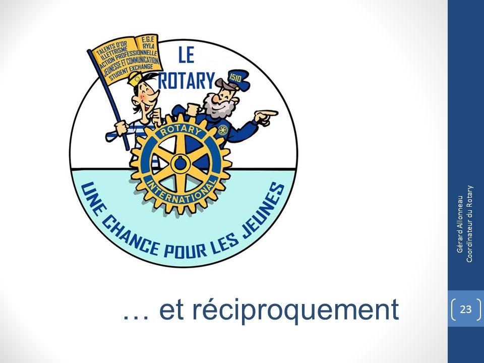 23 Gérard Allonneau Coordinateur du Rotary … et réciproquement