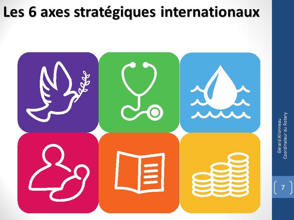 7 Gérard Allonneau Coordinateur du Rotary Les 6 axes stratégiques internationaux