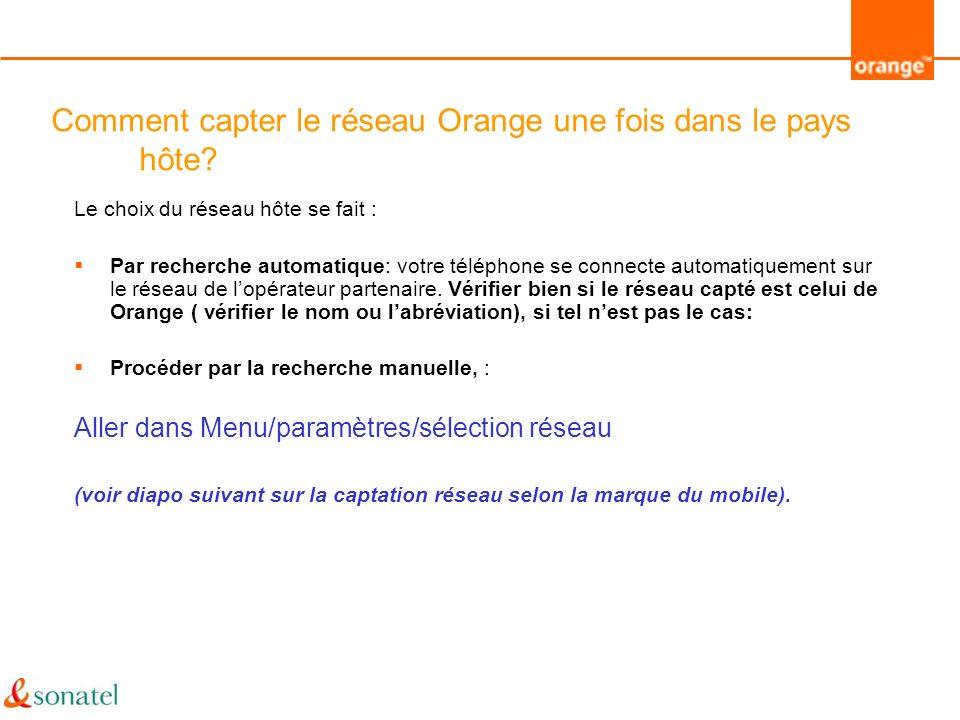 Comment Recharger mon compte une fois dans un pays Orange Zone .