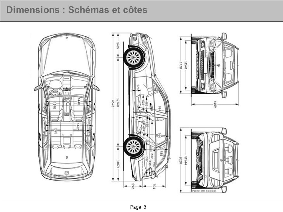 Page 8 Dimensions : Schémas et côtes
