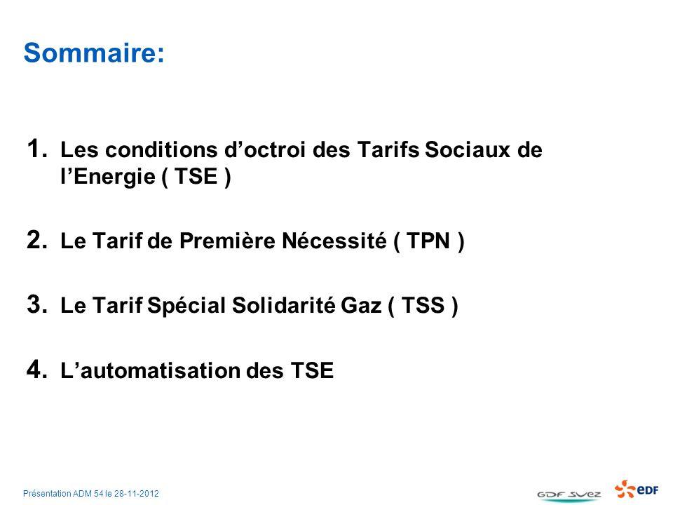 Présentation ADM 54 le 28-11-2012 Sommaire: 1.