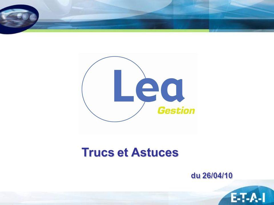 Trucs et Astuces du 26/04/10 du 26/04/10