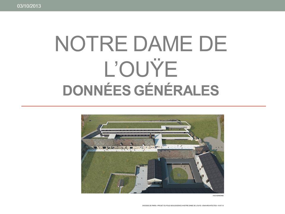 NOTRE DAME DE LOUŸE DONNÉES GÉNÉRALES 03/10/2013