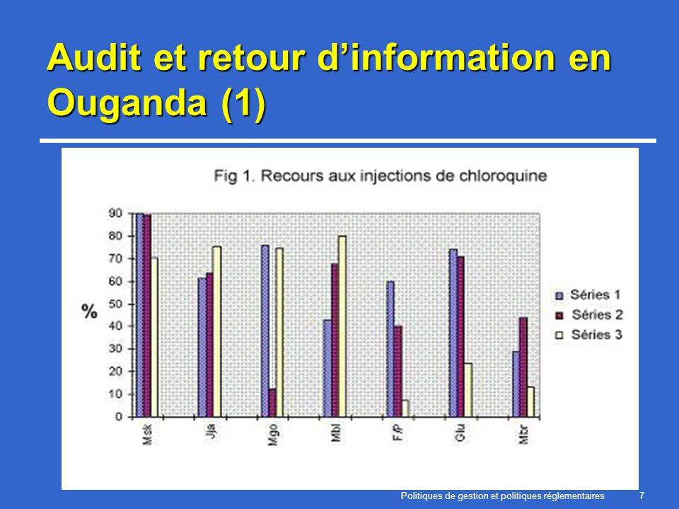 Politiques de gestion et politiques réglementaires7 Audit et retour dinformation en Ouganda (1)