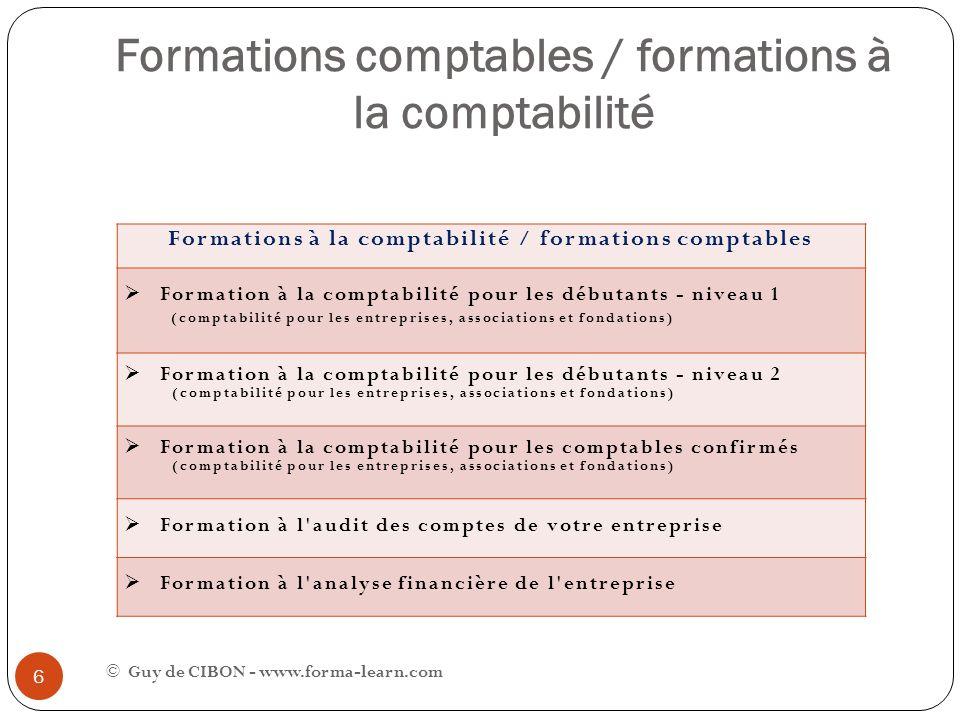 Formations comptables / formations à la comptabilité Formations à la comptabilité / formations comptables Formation à la comptabilité pour les débutan