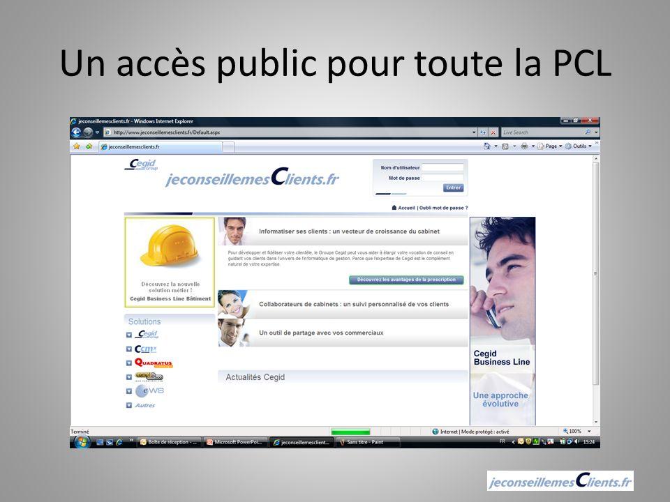 Un accès public pour toute la PCL