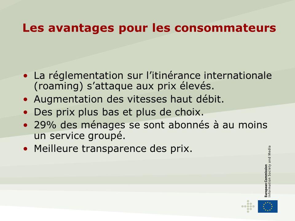 Les avantages pour les consommateurs La réglementation sur litinérance internationale (roaming) sattaque aux prix élevés.