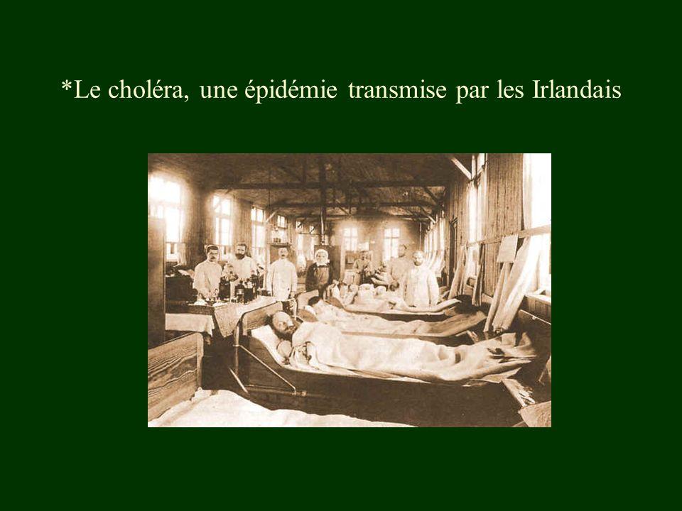 *Le choléra, une épidémie transmise par les Irlandais