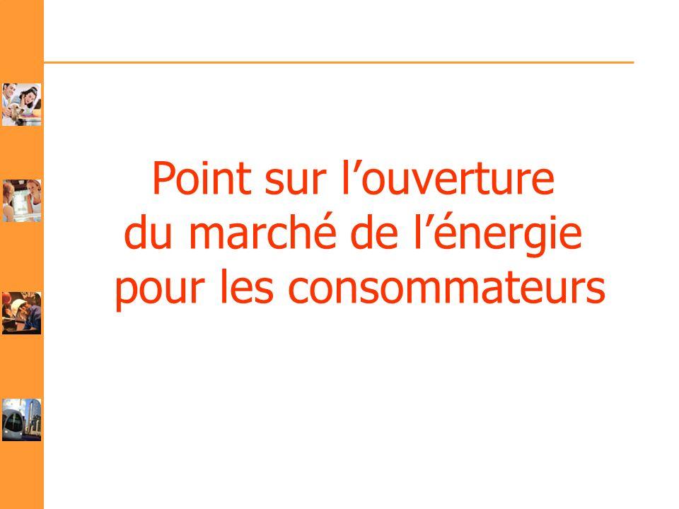 Point sur louverture du marché de lénergie pour les consommateurs