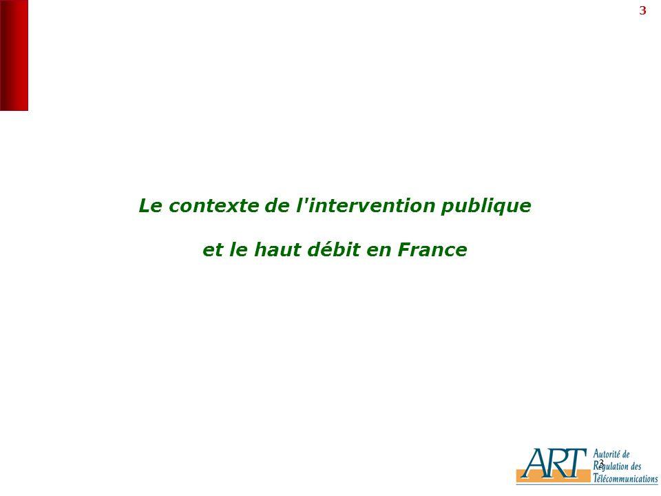 3 3 Le contexte de l intervention publique et le haut débit en France