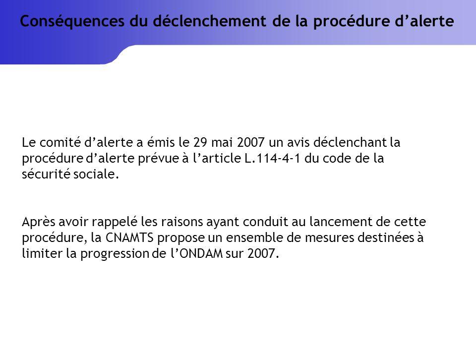 Le comité dalerte a émis le 29 mai 2007 un avis déclenchant la procédure dalerte prévue à larticle L.114-4-1 du code de la sécurité sociale.