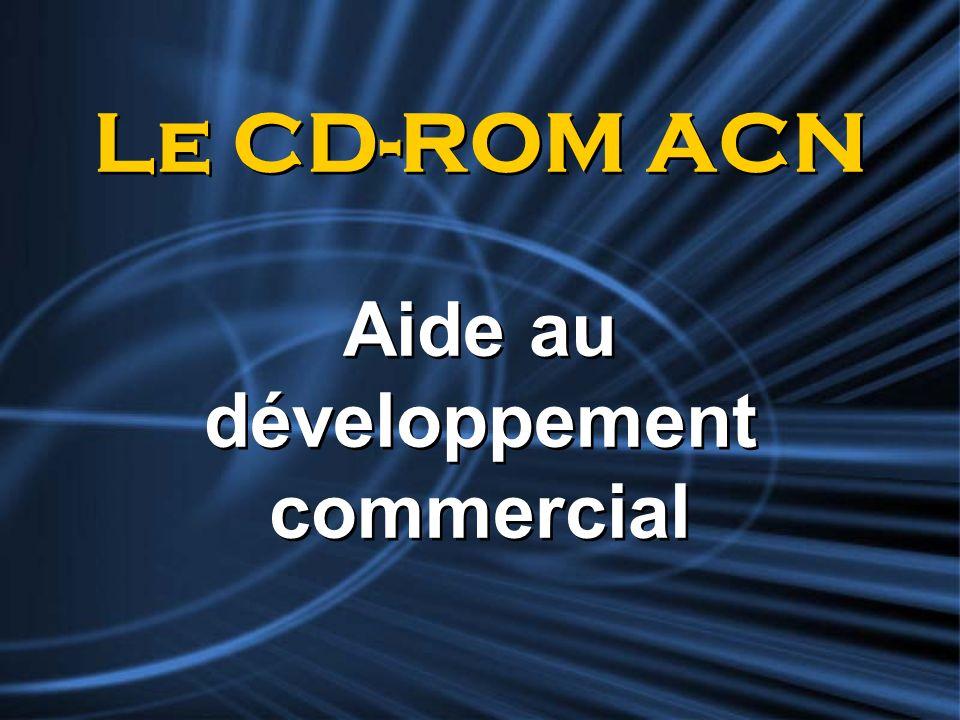 Le CD-ROM ACN Aide au développement commercial
