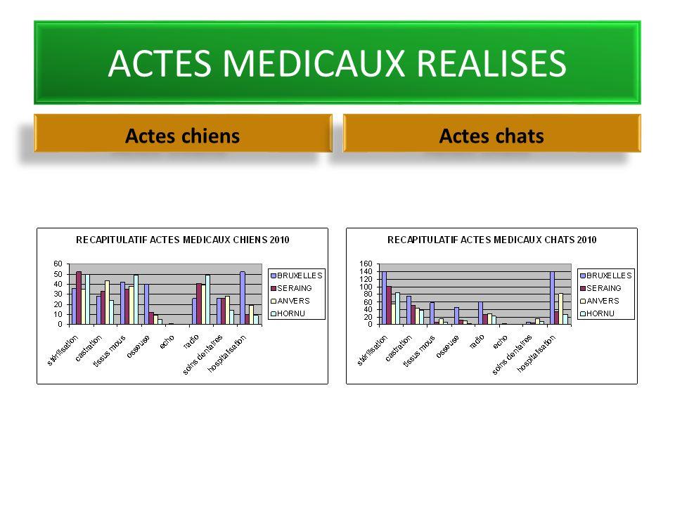 ACTES MEDICAUX REALISES Actes chiens Actes chats