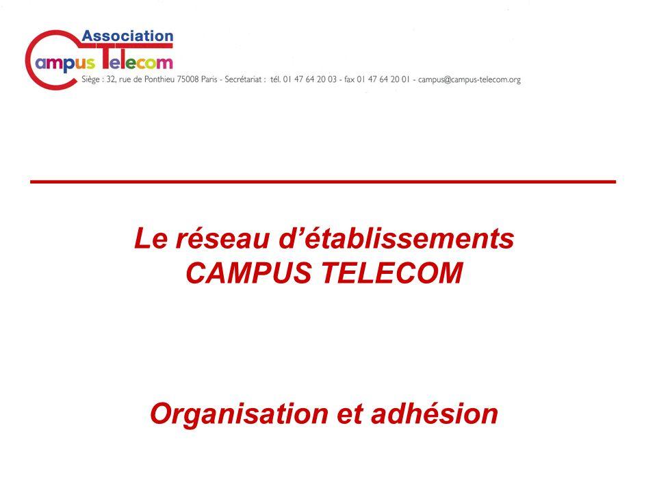 _____________________________ Le réseau détablissements CAMPUS TELECOM Organisation et adhésion