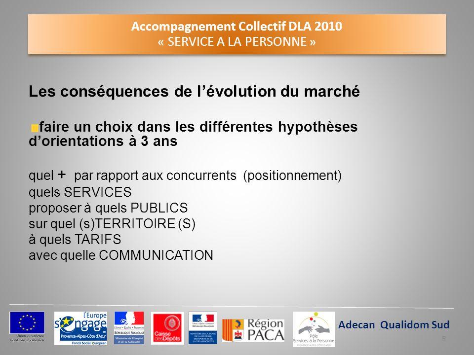 Accompagnement Collectif DLA 2010 « SERVICE A LA PERSONNE » Les conséquences de lévolution du marché faire un choix dans les différentes hypothèses do