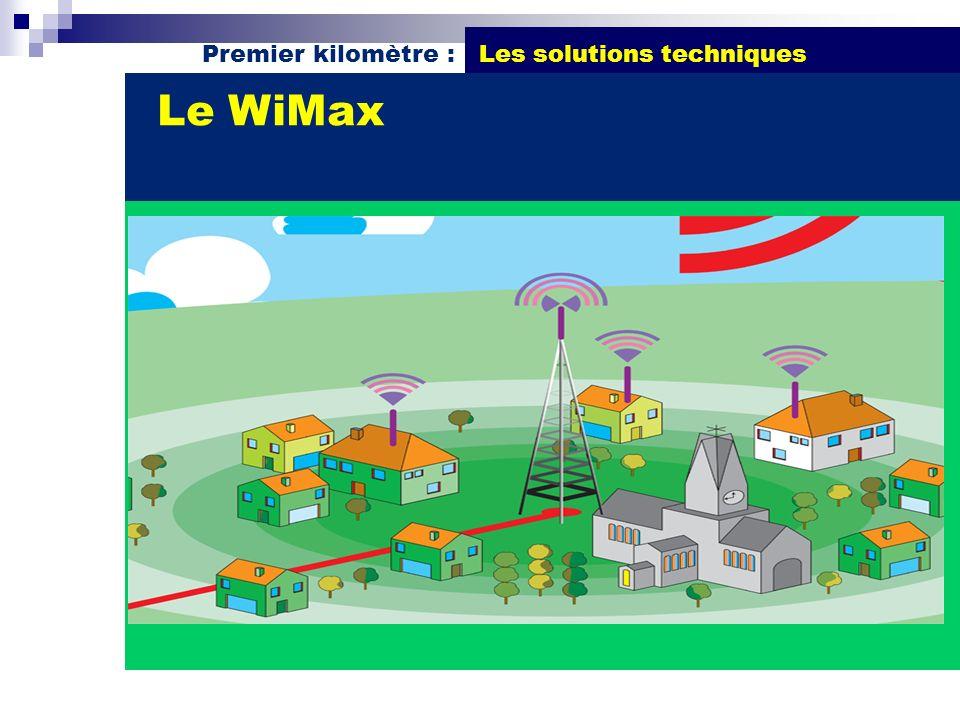 Premier kilomètre : Les solutions techniques Le WiMax