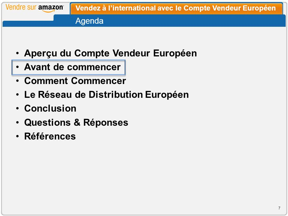 Le Rapport sur les Commandes est européen et liste vos commandes venant de tous les sites de vente.