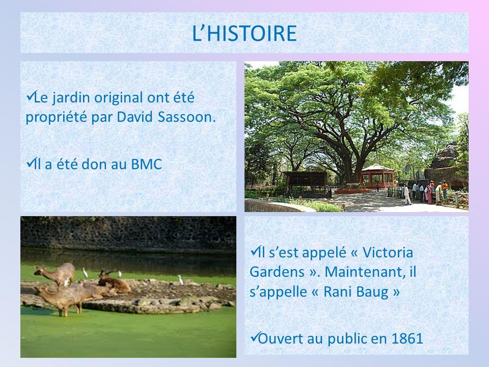 LHISTOIRE Le jardin original ont été propriété par David Sassoon.
