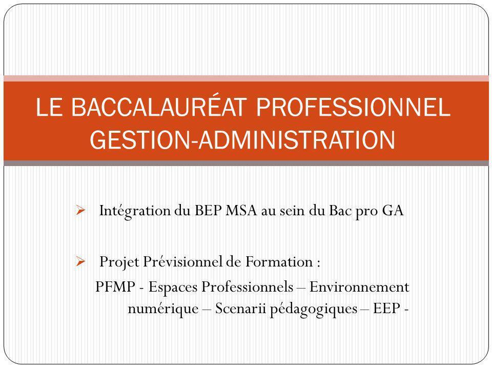 Entrée en application : septembre 2012 Formation sur 3 ans Préparation dès la seconde LE BACCALAURÉAT PROFESSIONNEL GESTION-ADMINISTRATION