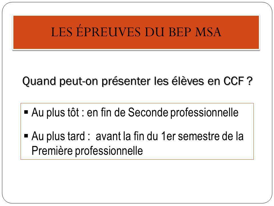 EP1 – Pratiques professionnelles des services administratifs En CCF Quand peut-on évaluer les élèves .